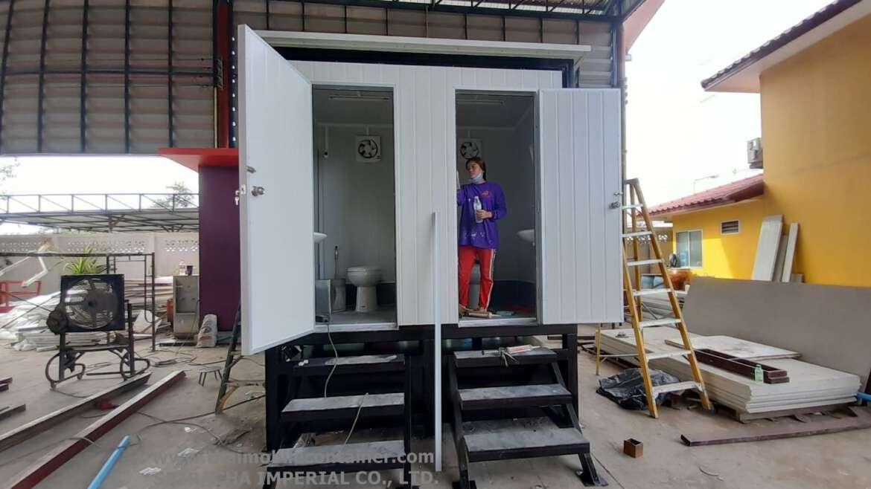 ตู้ห้องน้ำสำเร็จรูป (มีถังเก็บ)